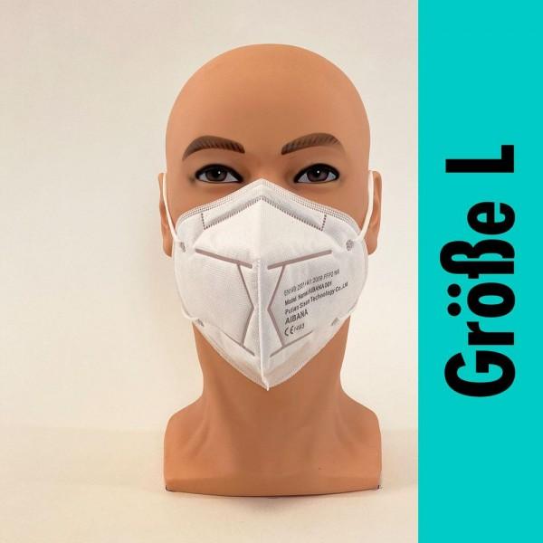 Schutzmaske FFP2 NR weiß (Größe L) - Civil Use