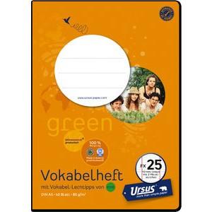 Vokabelheft, liniert 10 mm, A5, 80 g/m², 40 Blatt
