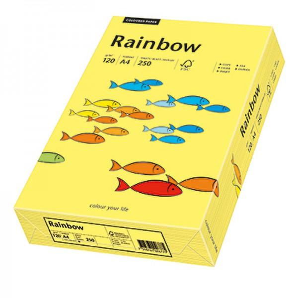 Rainbow Kopierpapier 88042348 A4 120g gelb 250 Bl./Pack.
