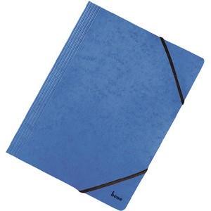 Einschlagmappe Vario, Karton, 425 g/m², 3 Klappen, A4, blau