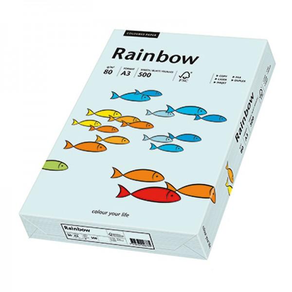 Rainbow Kopierpapier 88042698 A3 80g hellblau 500 Bl./Pack.