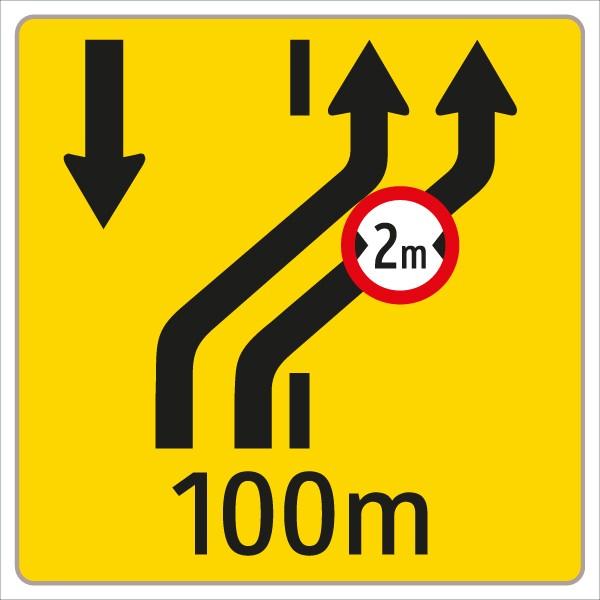§53/16c Fahrstreifenanzeiger gelb – schwarz W4