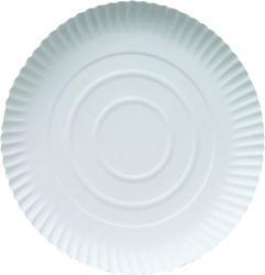 Pappteller rund d=30cm weiß
