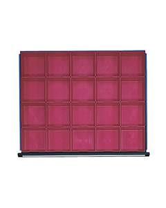 Kunststoff-Kleinteilekasten mit 20 Mulden, für Schrankbreite 760 mm, für Schubla