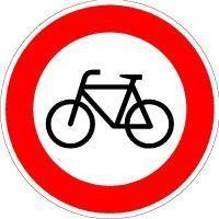 Verkehrszeichen 254 Ronde 600mm Verbot für Radfahrer