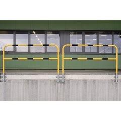 Schutzbügel, zur Wandmontage, herausnehmbar, Breite 2000 mm, kunststoffbeschicht