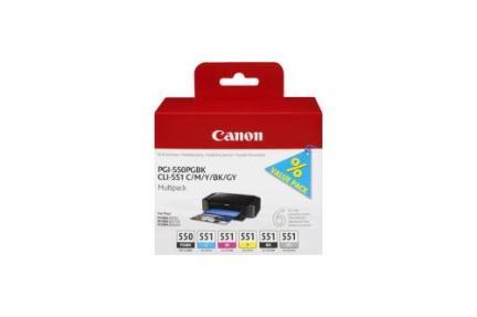 Canon Ink Multi Pack PGI550 PGBK, CLI551 C/M/Y/BK/GY