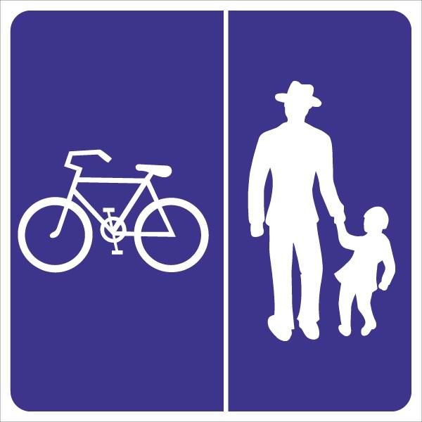§53/28b Geh – und Radweg ohne Benützungspflicht für Radfahrer – Rad links