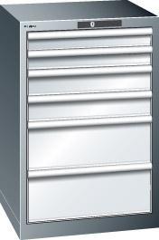 Schubladenschrank grau H850,6 Schubl. 14.258.020