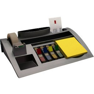 Schreibtischorganizer, Kunststoff, 250 x 168 x 68 mm, silber