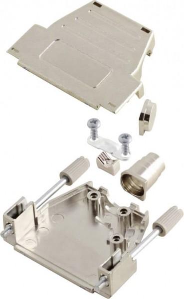 D-SUB Gehäuse Polzahl: 15 Kunststoff, metallisiert 180 °, 45 ° Silber MH Co
