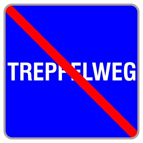 Treppelweg Ende | C-Sign, gebördelt