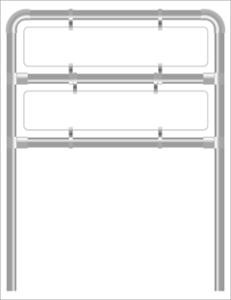 Rohrrahmen H8. 1460x330 x2.