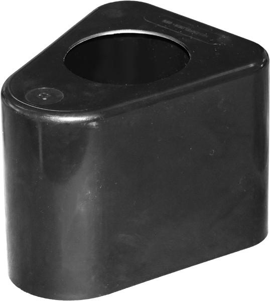 Abdeckkappe für Leitpflock. schwarz + Loch 65 mm