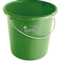 Plastikeimer rund 5l grün (10)