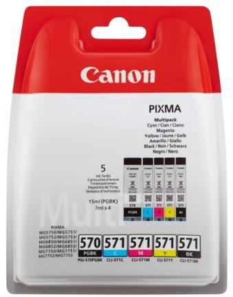 Canon Ink Multi Pack PGI570 PGBK, CLI571 C/M/Y/BK