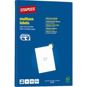Etikett, I/L/K, A4-Bg., sk, Pap., 70x32mm, weiß