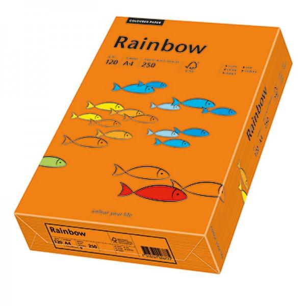 Rainbow Kopierpapier 88042458 A4 120g intensivorange 250 Bl./Pack.