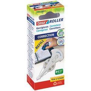 Korrekturrollernachfüllkassette ecoLogo®, 4,2mmx14m, 1z., weiß