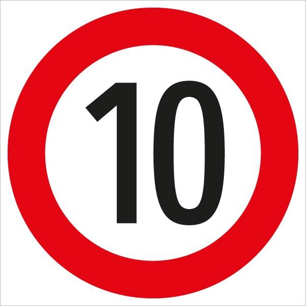 §52/10a Geschwindigkeitsbegrenzung 10 km/h