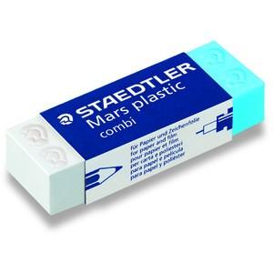 Radierer Mars® plastic combi, Kunststoff, 65 x 23 x 13 mm, blau/weiß