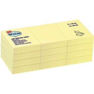 Haftnotiz stickies™, 51 x 38 mm, gelb, 100 Blatt