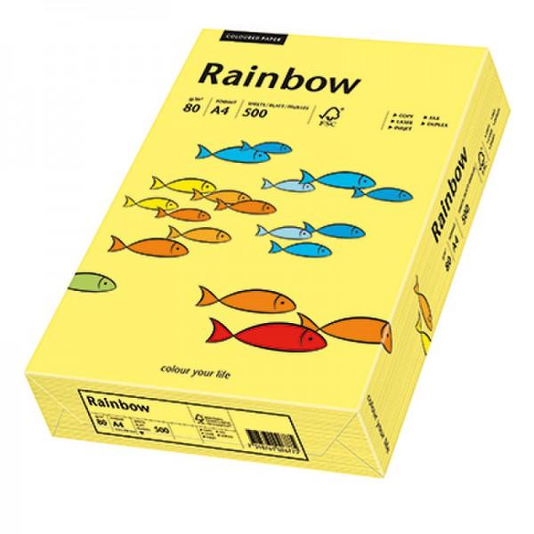 Rainbow Kopierpapier 88042343 A4 80g gelb 500 Bl./Pack.
