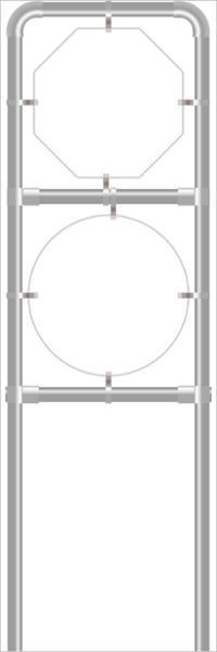 Rohrrahmen für Tafelgr. 940x940 und Ø 960mm