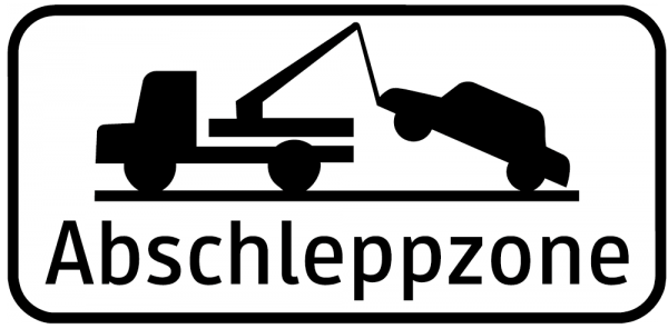 Abschleppzone Zusatztafeln - Abschleppzone URP I Scotchlite Typ1 | Umrandungsprofil I