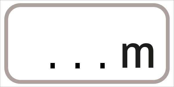 §54/5 ...m | flaches Verkehrszeichen