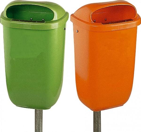 Papierkorb 50 l Kunststoff grün