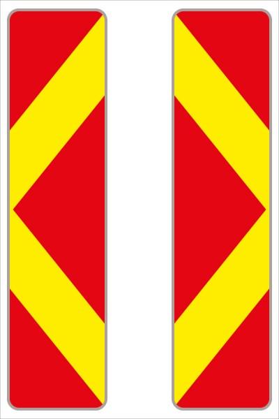 Leitbake rot/fluoreszierend gelb