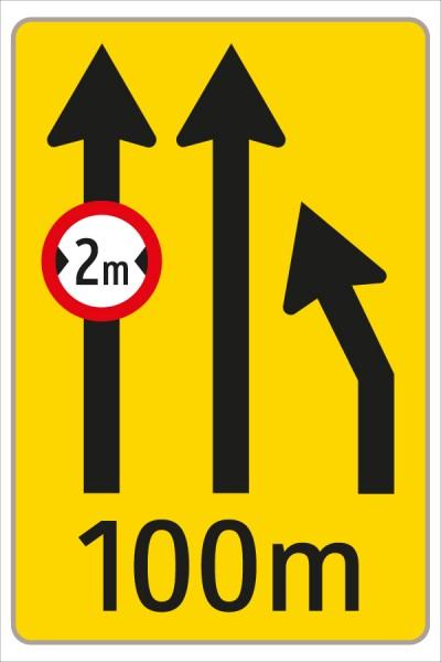 §53/16c Fahrstreifenanzeiger gelb – schwarz F5