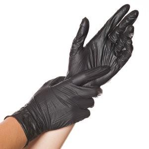 Handschuh, Einweg, Nitril, puderfrei, Größe: L, schwarz