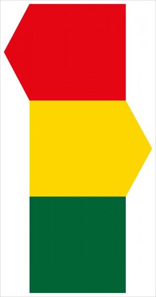 §53/10a Straßenbahn biegt bei Gelb bzw. Rot ein