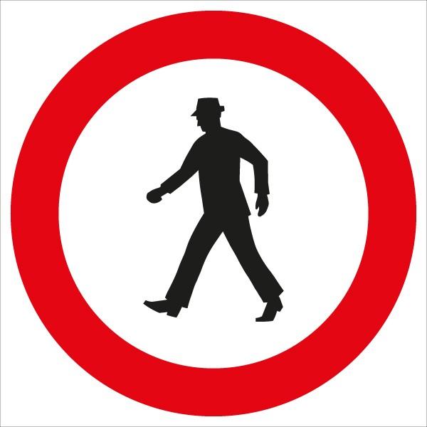 §52/14b Verbot für Fußgänger