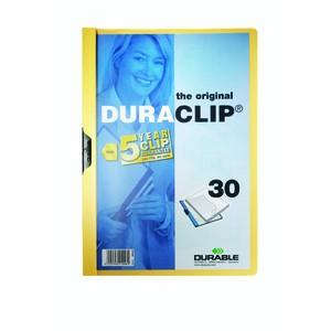 Klemmmappe DURACLIP®, Hartfolie, A4, für: 30 Blatt, gelb