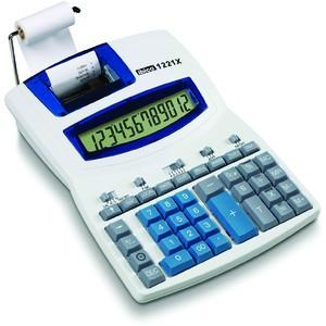 Tischrechner, 1221X, Netz, druckend, 12stlg., 212x278x18mm, lichtgr/bl
