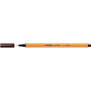 Fineliner point 88®, mit Kappe, 0,4 mm, Schreibf.: braun
