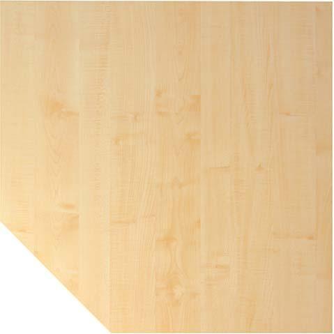 Trapezeckplatte Ahorn 1200x1200 mm H-Serie