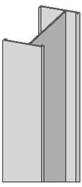 Alu I Träger 180/80 mm
