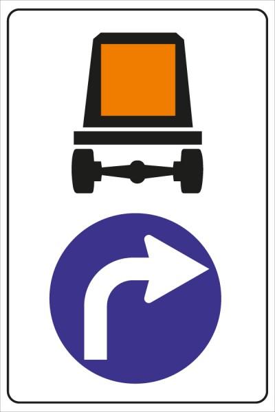 §52/15a*c Vorgeschriebene Fahrtrichung für Fahrzeuge mit gefährlichen Gütern
