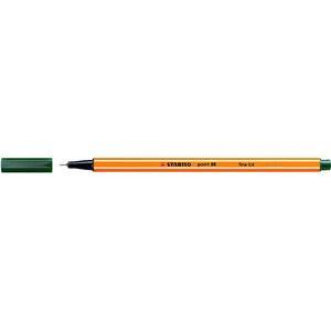 Fineliner point 88®, mit Kappe, 0,4 mm, Schreibf.: olivgrün