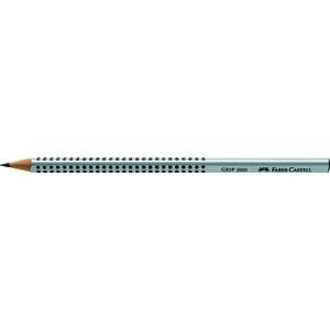 Bleistift GRIP 2001, dreieckig, HB, Schaft: silber