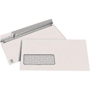 Briefumschlag, m.Fe., hk, DL, 220x110mm, 80g/m², hf, weiß