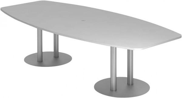 Konferenztisch 280x130/85Grau/Silber