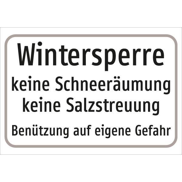 §54/5 Wintersperre, keine Schneeräumung, keine Salzstreuung, Benützung auf eigene Gefahr | C-Sign,