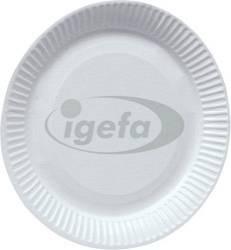 Pappteller rund d=18cm weiß