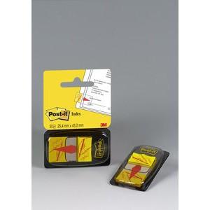 Haftmarker 680, mit Symbol, Unterschrift, 25,4 x 43,2 mm, gelb