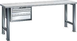 Werkbank 2000x750x840 mm Multiplex40,3SL,grau